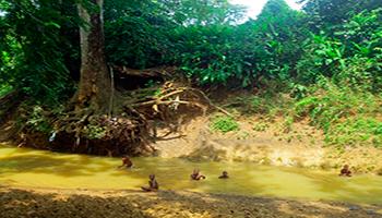 En San Basilio de Palenque hay un arroyo que lo atraviesa y que tiene un papel esencial en la cultura de este pueblo colombiano
