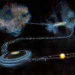 nebulosa de hidrógeno y polvo estelar