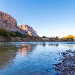 El río bravo se queda sin agua