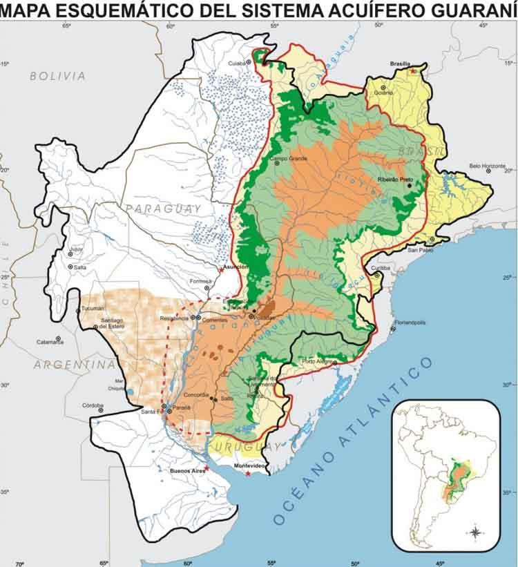 Resultado de imagen para Acuífero guaraní
