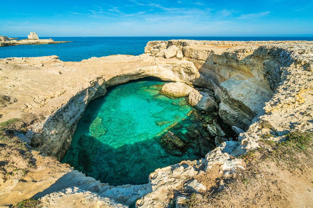 Las Cueva de la Poesia en la región de Salento de Puglia son un auténtico paraíso natural