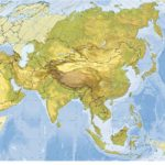 mapa de los rios de asia
