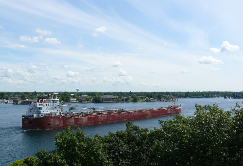 río San Lorenzo, que termina en Quebec