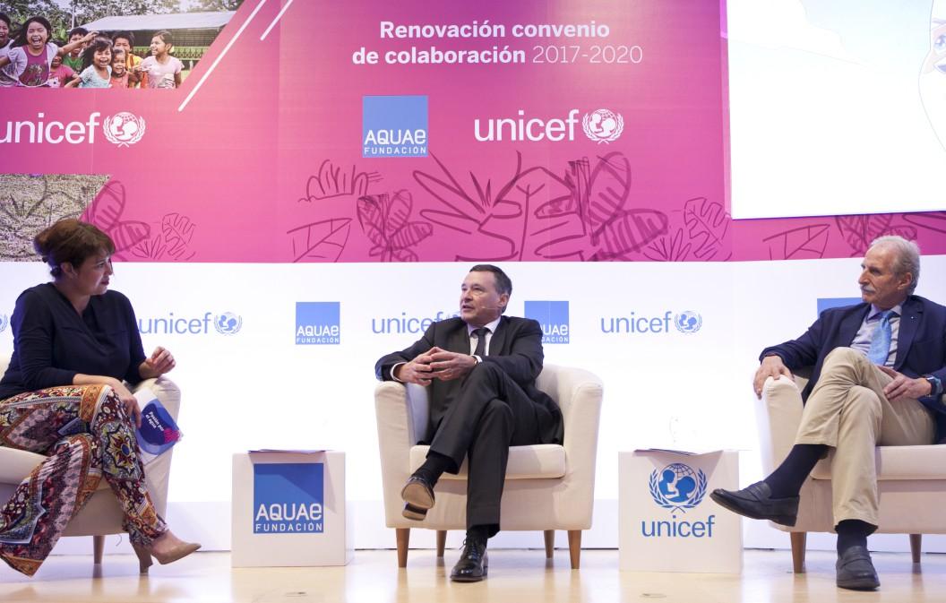 Aquae y UNICEF renuevan su compromiso por tres años más