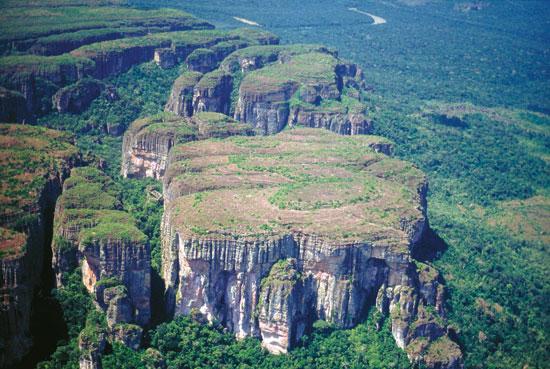 El Parque Nacional de Chiribiquete, famoso por sus bosques de tepuy.
