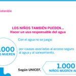 Derecho al agua potable para niños de todo el mundo porque con el agua no se juega