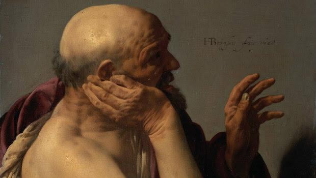 'Heráclito llorando', Hendrick ter Brugghen (1628)