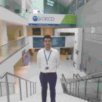 Ander Eizaguirre disfruta de una beca Cátedra Aquae que le ha permitido trabajar en la OCDE (Economía y Gobernanza de la Economía Circular)