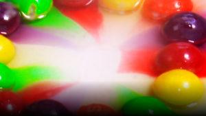 Experimento casero: arcoíris caramelos