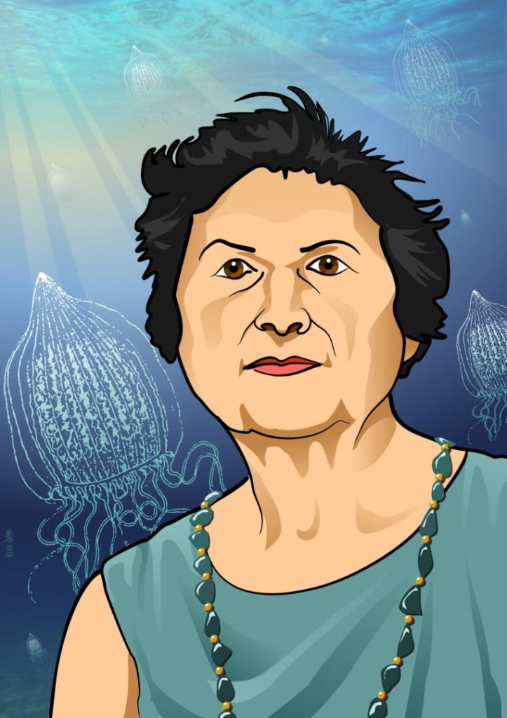 Marina Sanz, Ángeles Alvariño, experta en plancton y descubridora de 22 especies
