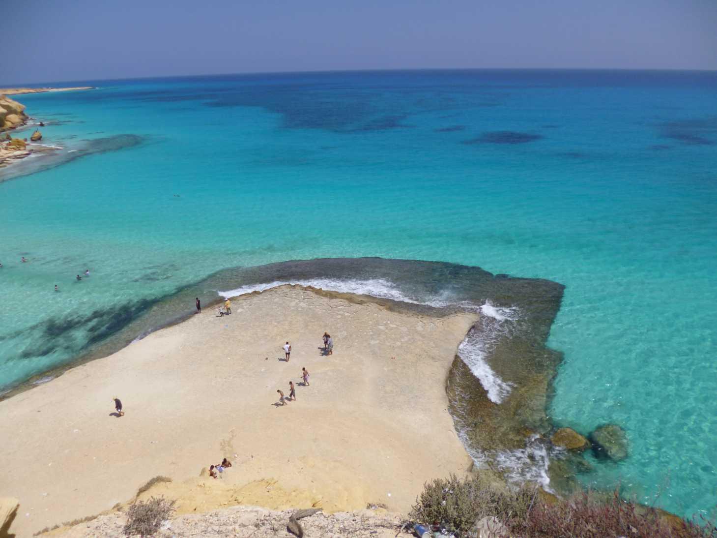 Marsa Matroh es uno de los lugares con el agua cristalina más famosos del mundo