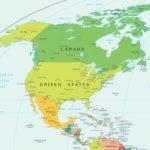 mapa hidrografico america del norte