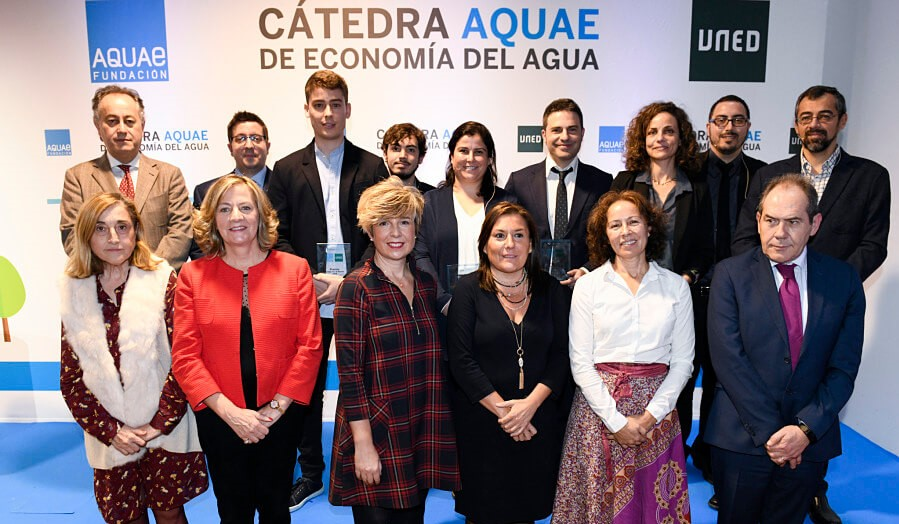 Los ganadores de los V Premios de Cátedra Aquae