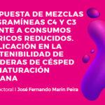 Respuesta de mezclas de gramíneas C4 y C3 frente a consumos hídricos reducidos. Implicación en la sostenibilidad de praderas de césped en naturación urbana