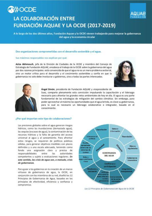 Fundación Aquae y OCDE