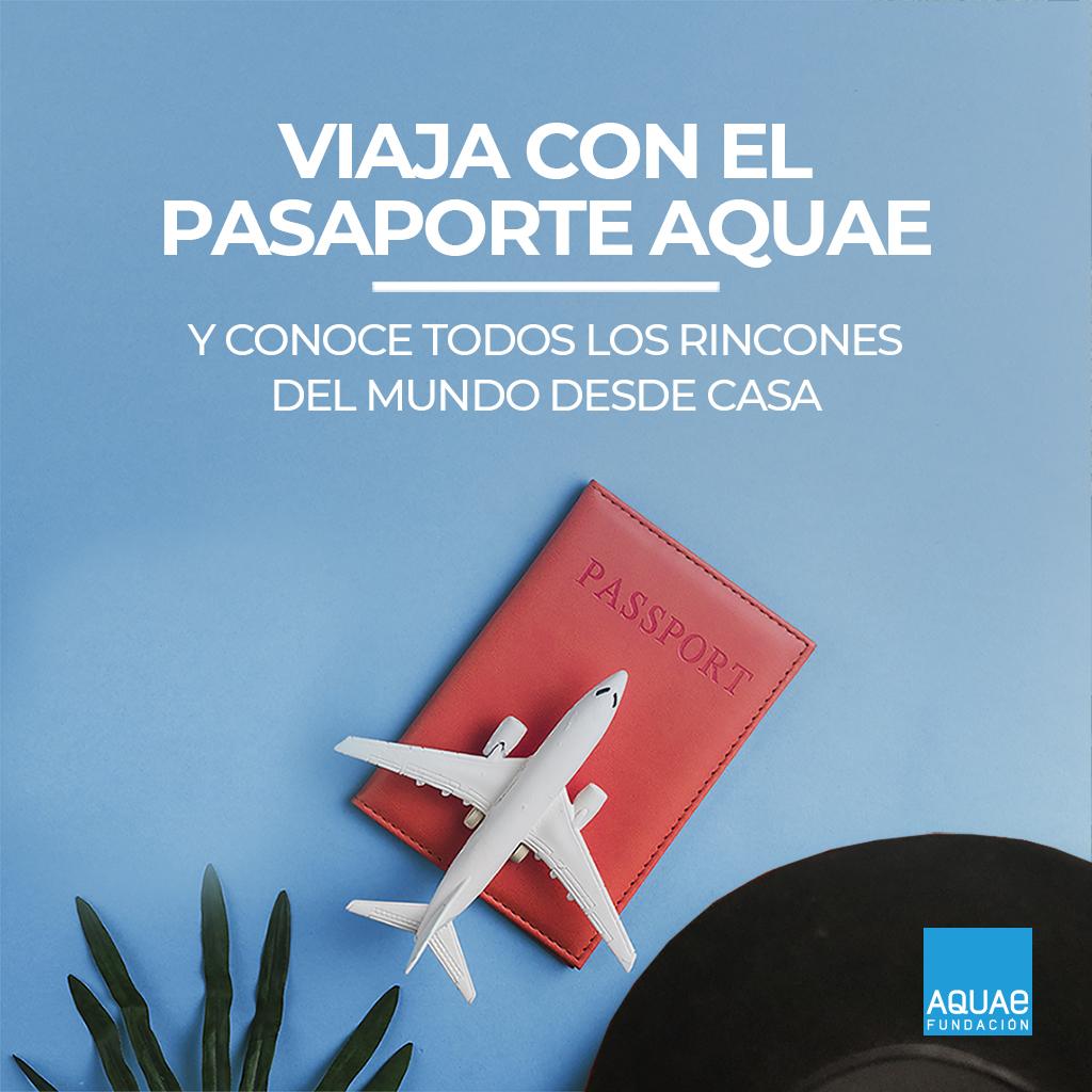 pasaporte Aquae para viajar desde casa