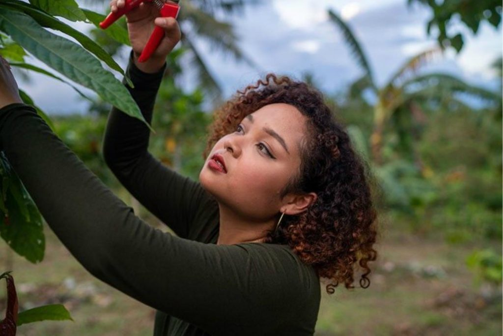 La agricultura sostenible y el consumo responsable son dos de los pilares en los que se basa la iniciativa de Louise Mabulo