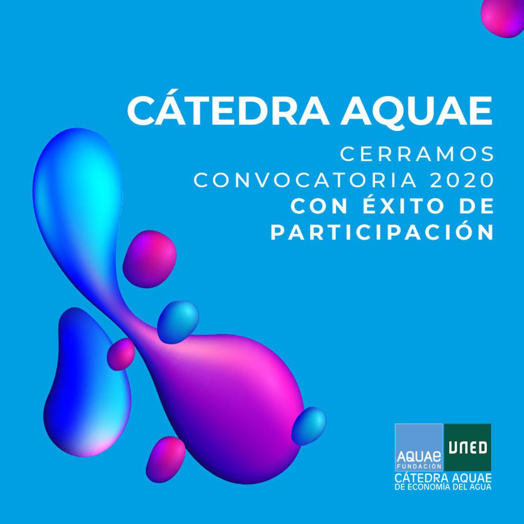 Se cierra el plazo de recepción de candidaturas para el mejor trabajo de investigación de la Cátedra Aquae Economía del Agua