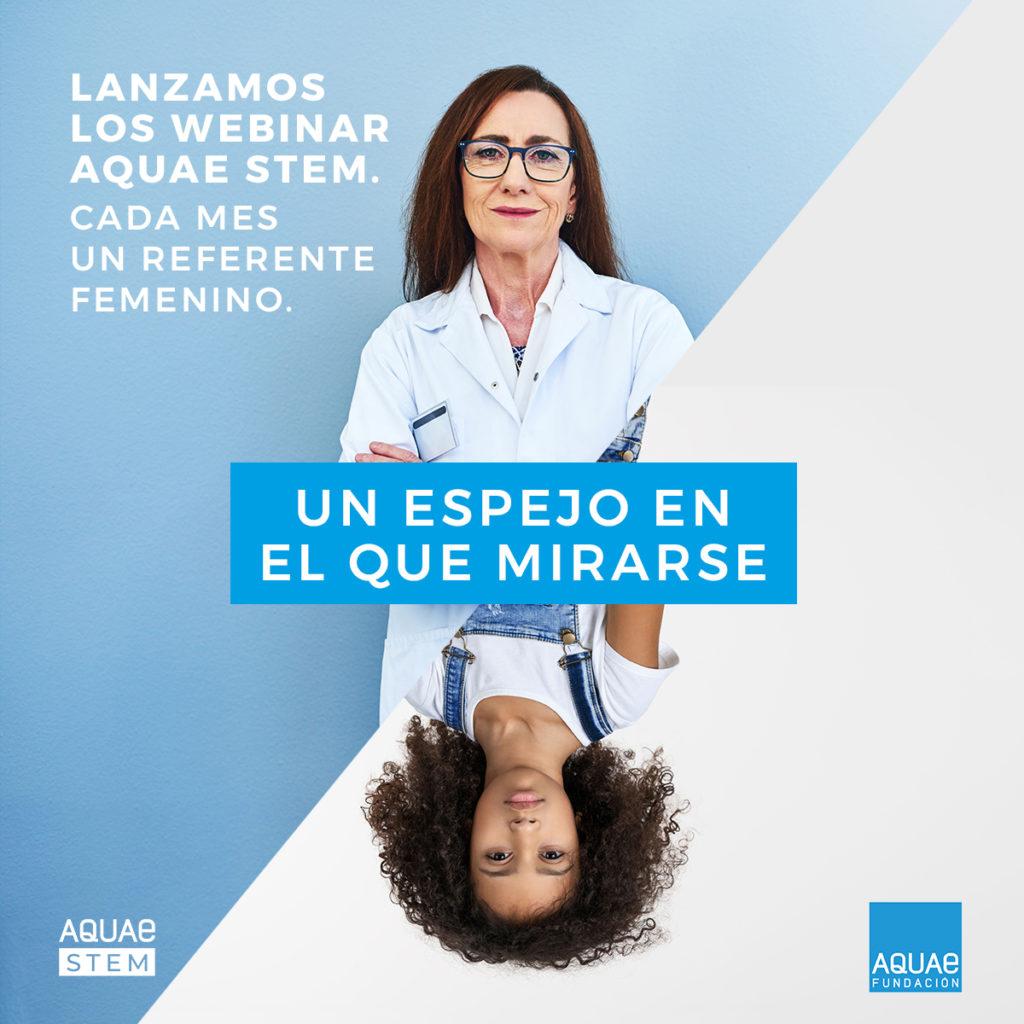 Vuelve Aquae STEM con un webinar al mes en el que las niñas de primera podrán conocer a referentes femeninos en el campos de las ciencias y la tecnología