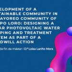 Loisa Lariño, ganadora del Premio Mejor TFM 2020, diseña un sistema de gestión de recursos hídricos gracias a energía fotovoltáica