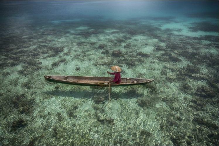 """""""El pescador y su paraiso"""" es el segundo finalista de PhotoAquae 2021"""