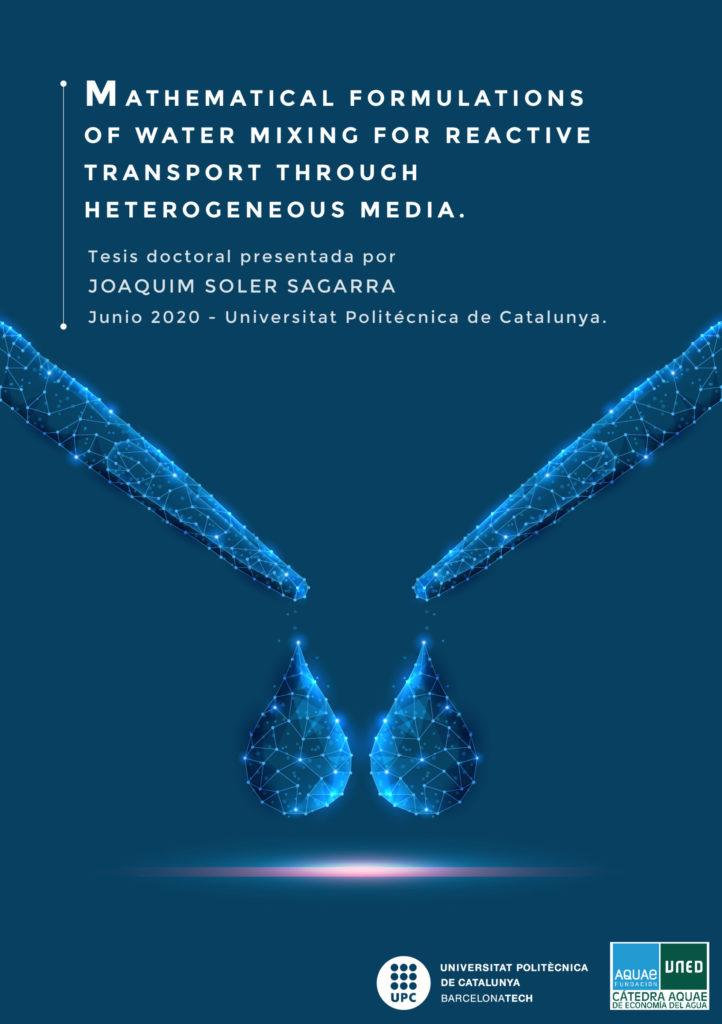 Joaquim Soler-Sagarra plantea en su tesis una serie de formulaciones matemáticas para mejorar la gestión de los acuíferos